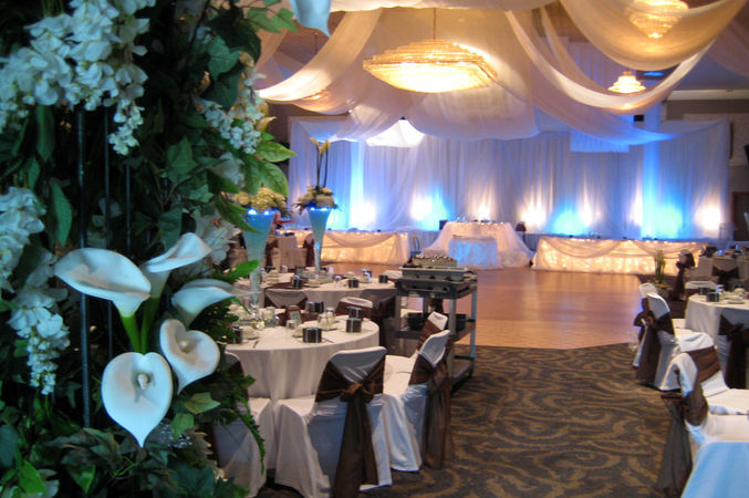 London Ukrainian Centre, a hall dressed for wedding reception party