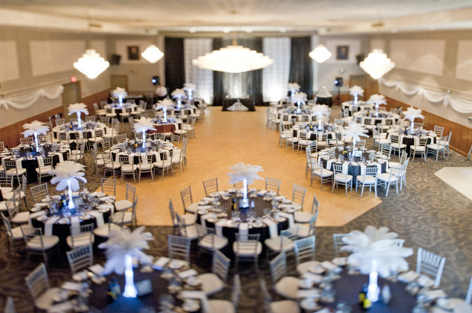 LUC London Ontario, banquet hall ready for a wedding party / wedding reception, a photo by Petro Photo