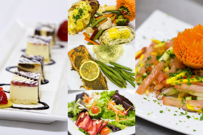 LUC in London Ontario wedding, banquet, event venue catering. A collage of scrumptious looking wedding food images.